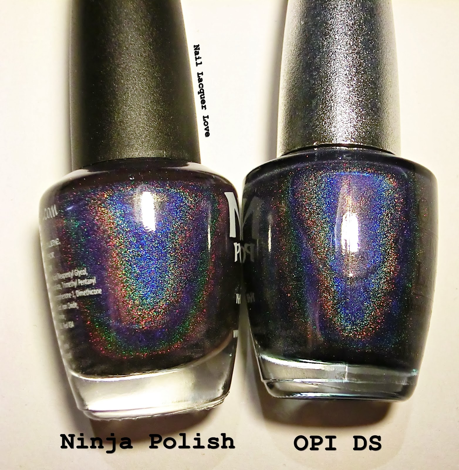 As You Can See They Do Look Quite Similar The Holo Is Stronger In Ninja Polish Glamourous On Left Than Opi Ds Glamour Right