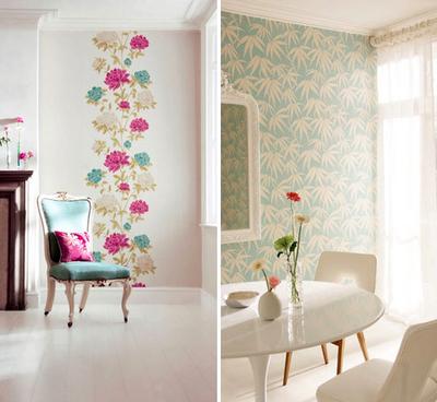 Filosofia de interiores deixe sua parede mais bonita - Papel decorado para paredes ...
