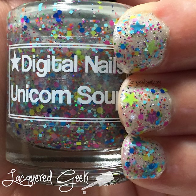 Digital Nails Unicorn Soup nail polish swatch and review
