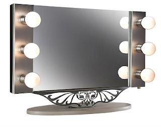 Hairstyles makeup beautiful woman lighted makeup mirror lighted magnifying makeup mirror aloadofball Gallery