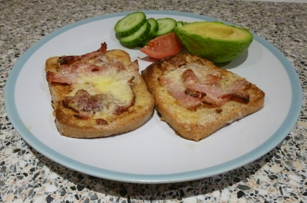 Gluten free Eggy Bread with Bacon and Cheese