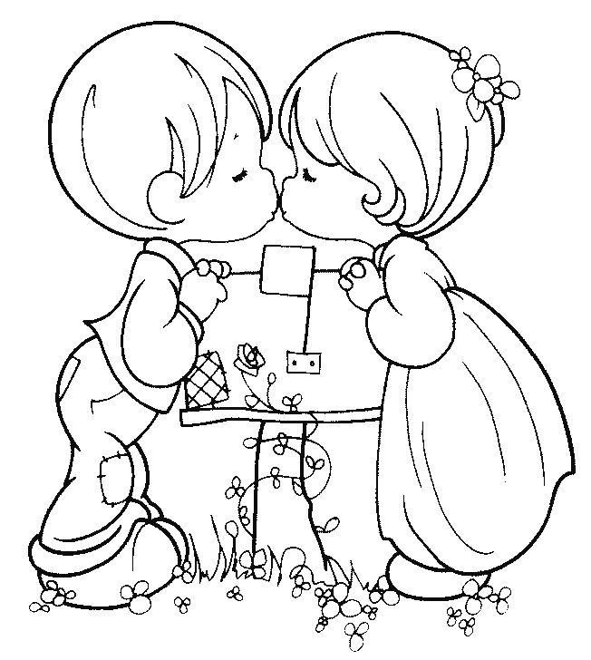 Desenho De Coração Para O Dia Dos Namorados para colorir