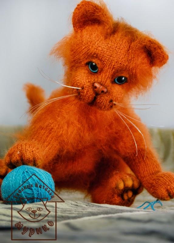 кот, cat, рыжий, игрушки, авторские куклы, купить котенка,подарки, мурико, лето
