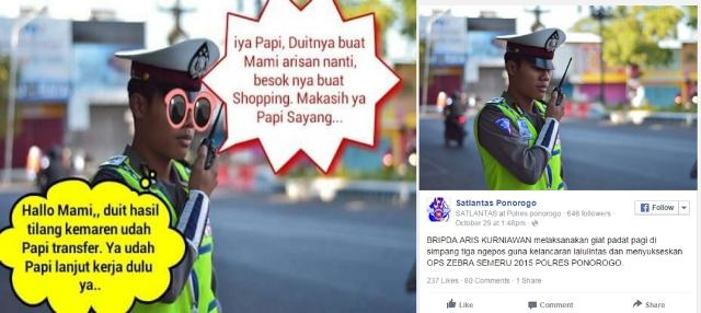 Meme Polisi Terima Uang Suap Tilang