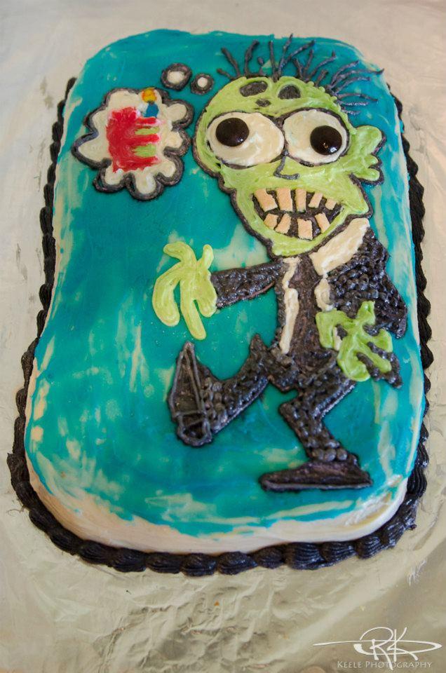 Kids Zombie Cake Her kid's birthday cake