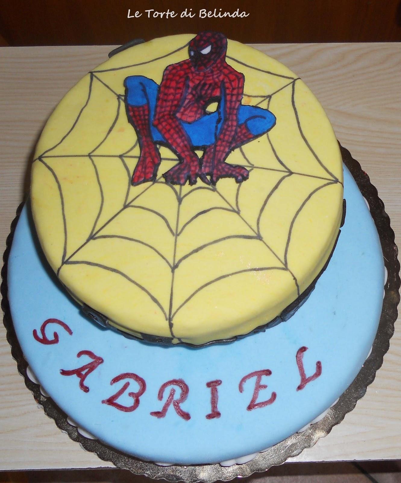 Le torte di belinda ma non solo la torta dell 39 uomo ragno for Torte di compleanno particolari per uomo