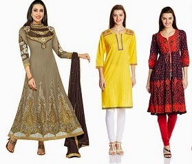 Flat 50% Off or more on Beautiful Collection of Women's Ethnic Wear@ Amazon