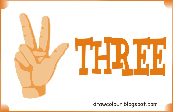 three -fingers-coloring-pages