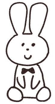 うさぎのイラスト(兎年・干支)線画