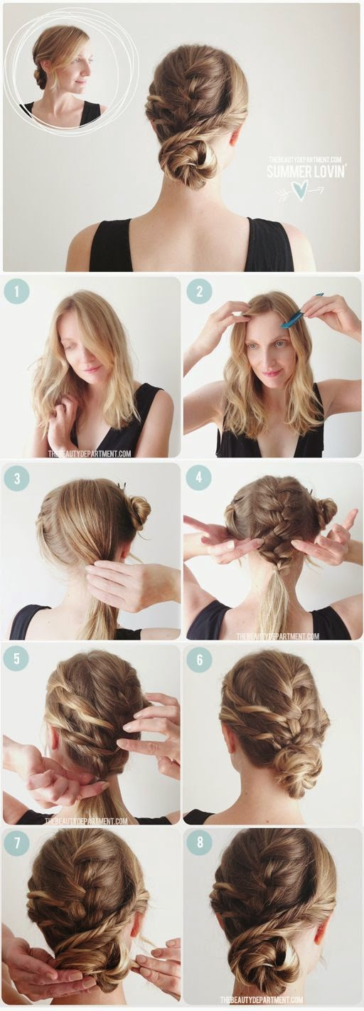 4 strand braids, rope braid and bridesmaid hairdos. ... I always wondered how this unique French braid bun was done.