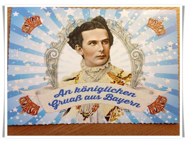 mit Strich und Faden | königlicher Gruss Postkarte aus München