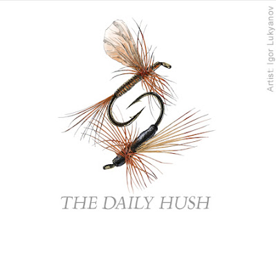 logo hameçons pêche, dessin