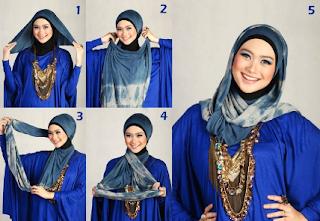Cara Memakai Hijab Pashmina untuk Lebaran