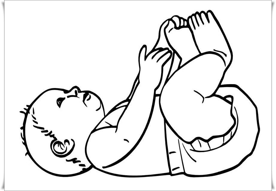 Ausmalbilder Baby Kostenlos - Baby Ausmalbilder, Kostenlose Spiele, Bilder für Kinder