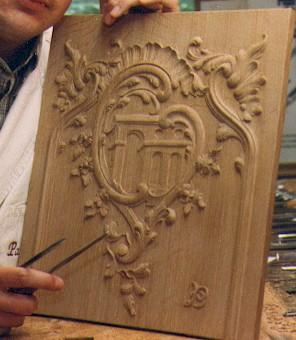 Paneel houtsnijwerk