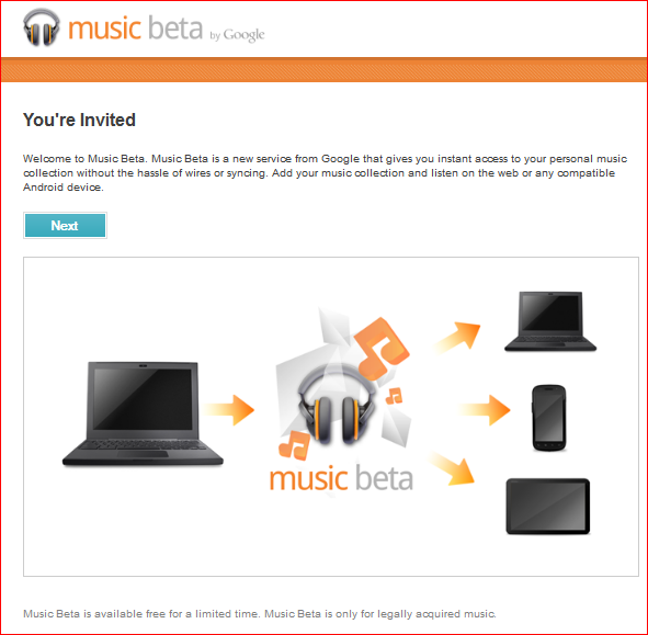 Google Music Invitation by Friends
