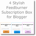4 Stylish Feedburner Subscription box for Blogger