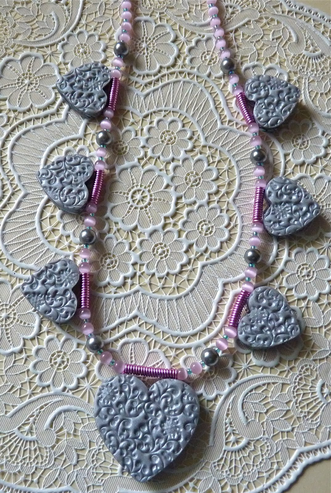 Knightwork: Playing with Clay: Polymer Clay Heart Necklace & More