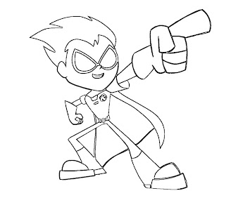 #2 Robin Coloring Page