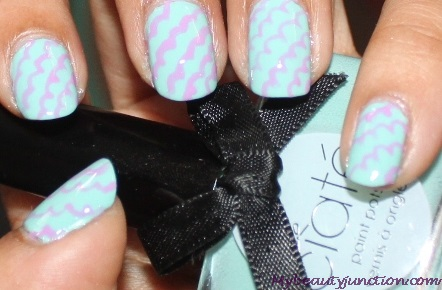 Pastel nail art for spring with Ciate Pepperminty nail polish
