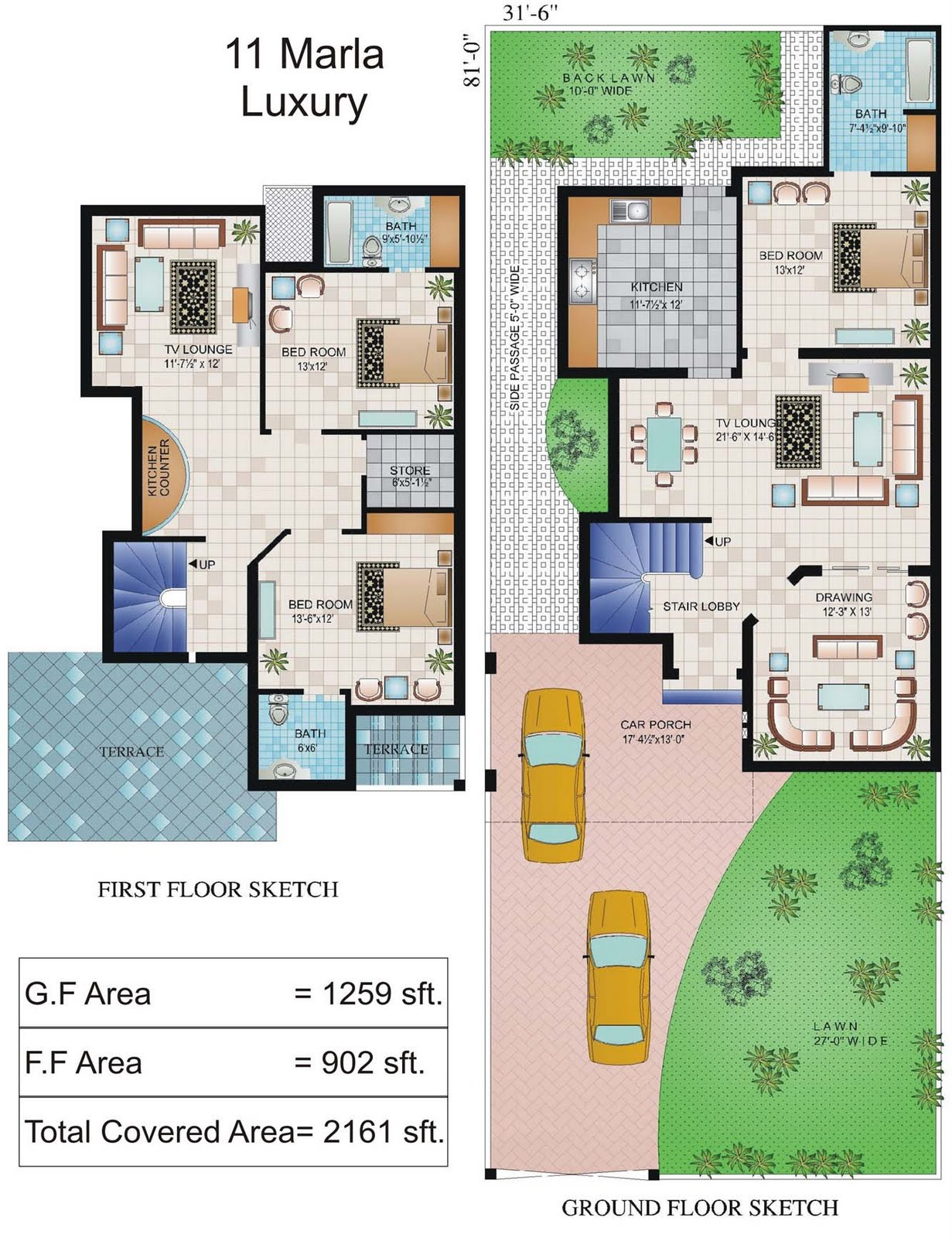 5 Marla House Plan
