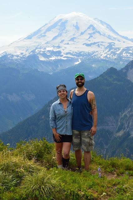 Hiking near Mt. Rainier Shriner Peak