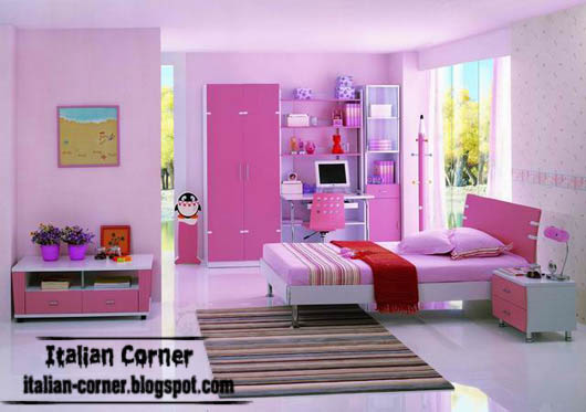 Contemporary girls bedrooms designs with italian ideas for Contemporary girls bedroom ideas