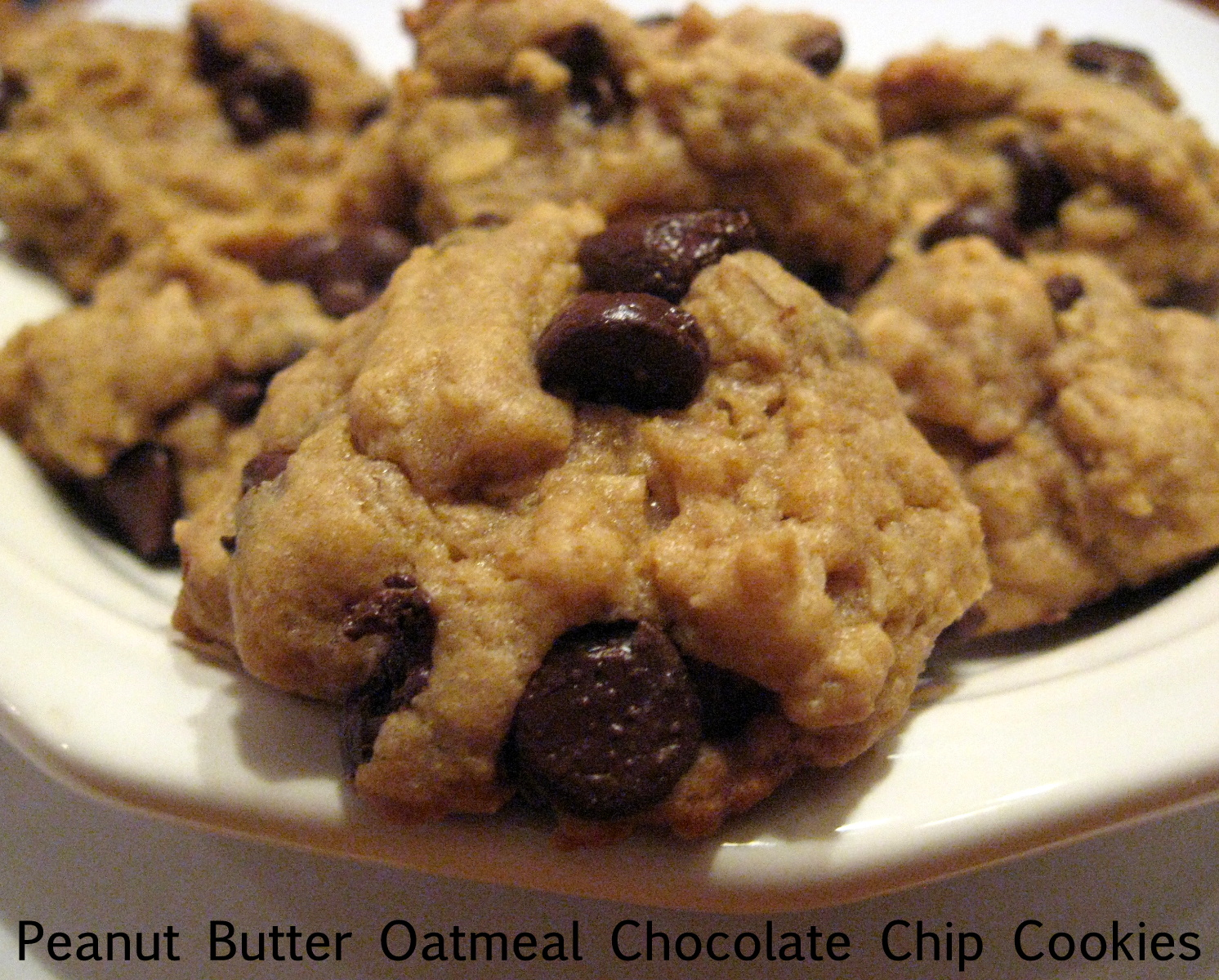 Humble Bumble: Peanut Butter Oatmeal Chocolate Chip Cookies