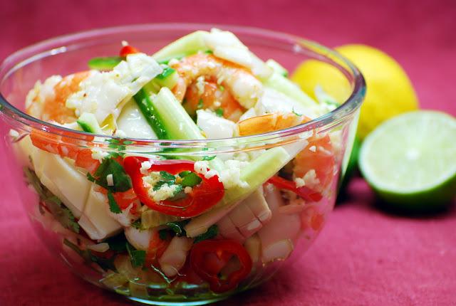 Кальмары в салате