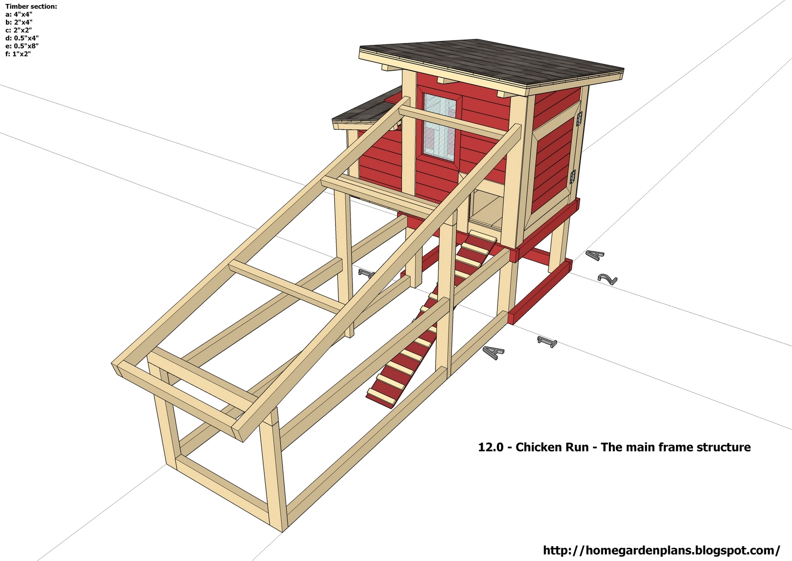 Detail free printable chicken coop plans venpa for Free coop plans