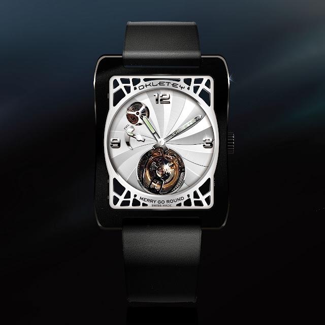 Okletey Merry Go Round Mechanical Hand-wound Watch