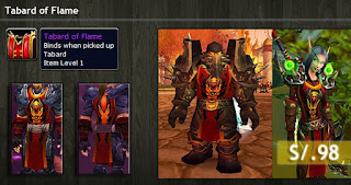 Tabard of Flame Item TCG Blizz Store Perú
