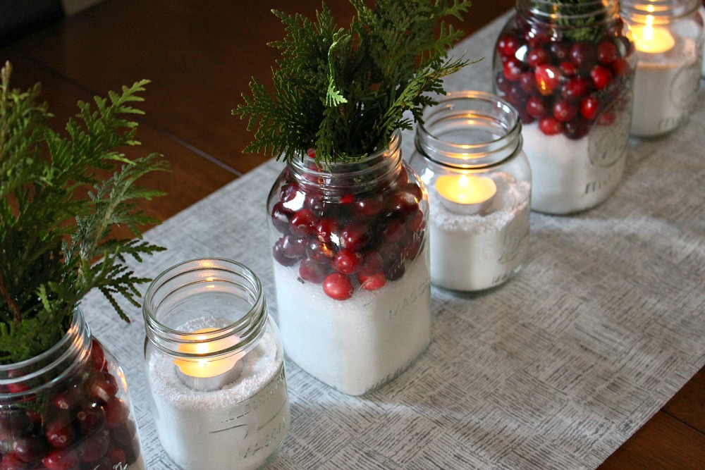 Inexpensive holiday center piece