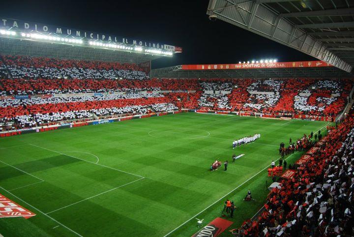 De los mejores tifos en el molin n sporting sevilla sporting de gij n - Estadio del sporting de gijon ...