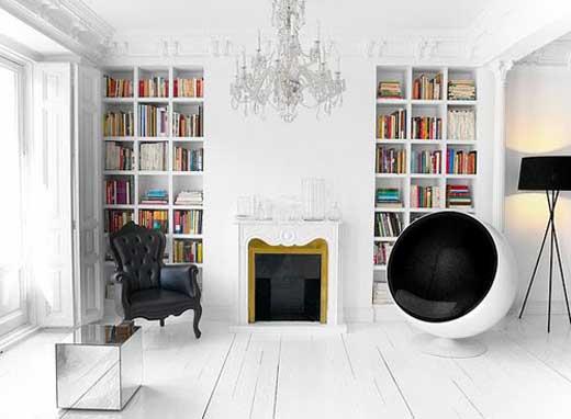 Home library room design interior design ideas for Home library designs interior design