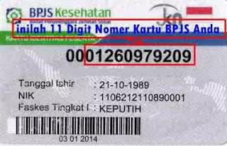 nomor kartu BPJS Kesehatan anda