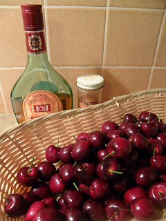 Basket of Cherries, Bottle of Brandy, Nutmeg