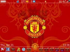 Manchester United Theme for Blackberry