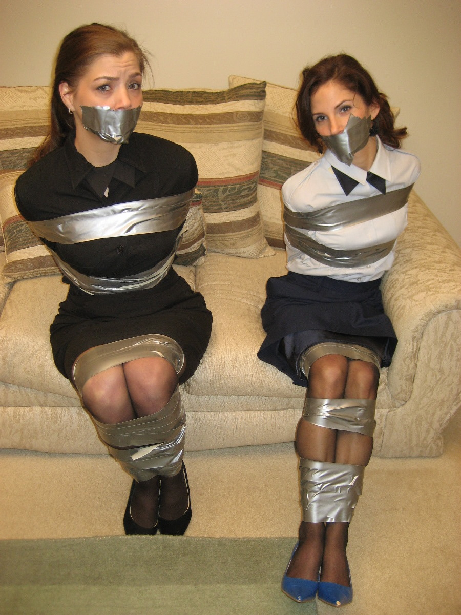 women duct tape bondage
