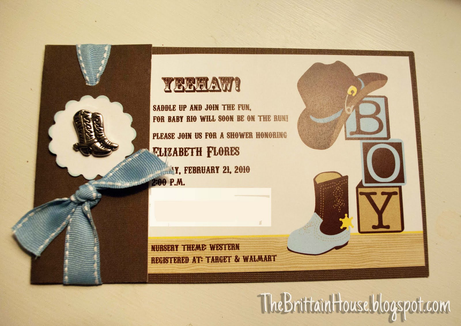 western baby shower invitations cowboy baby shower
