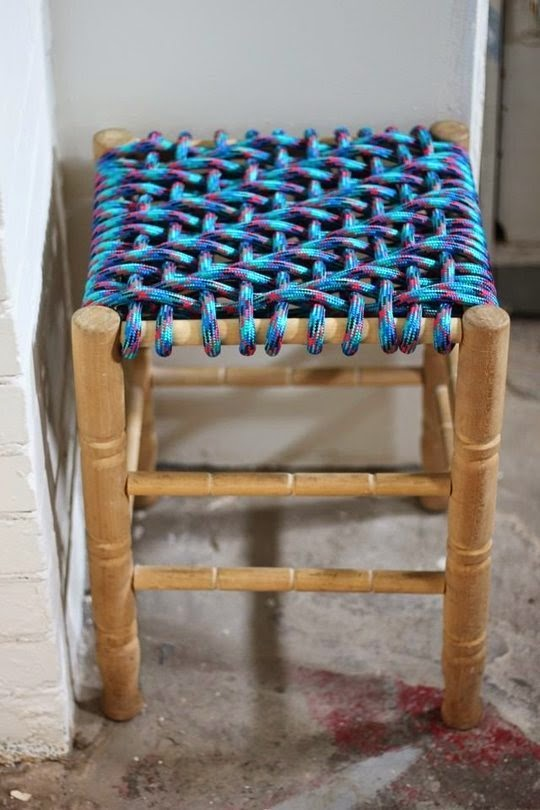 Smile and Wave recycled woven stool