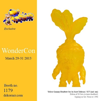 deKorner - WonderCon 2013 Exclusive Yellow Gummy Deadbeet Vinyl Figure by Scott Tolleson