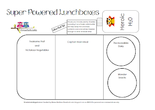 Super Powered Lunchbox Worksheet