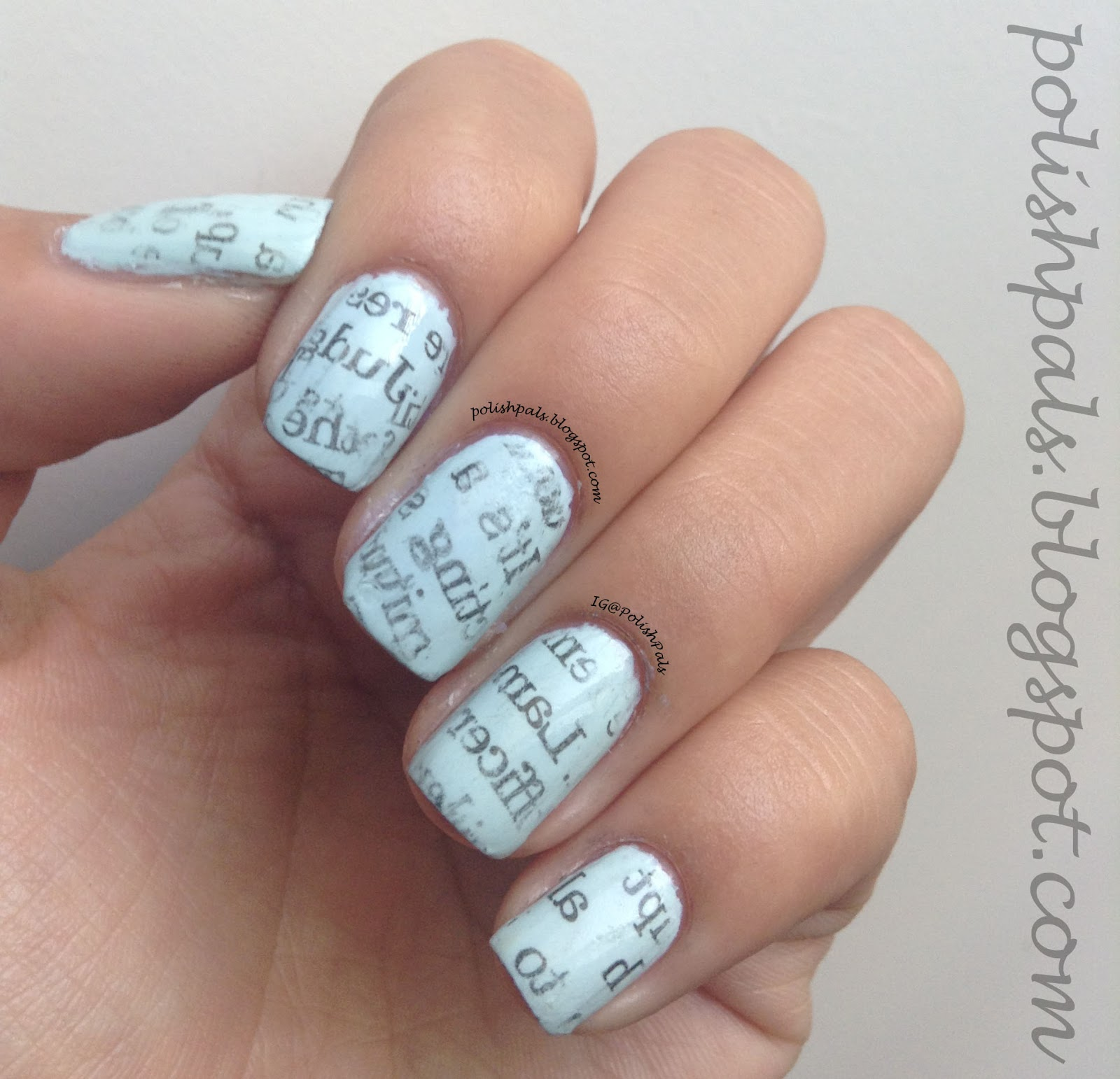 Polish Pals: N is for Newspaper Nails