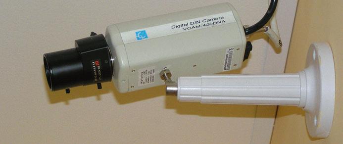 Cámara de una instalación de CCTV