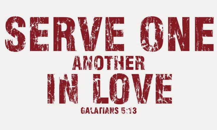 serve one another For, brethren, ye have been called unto liberty only use not liberty for an occasion to the flesh, but by love serve one another for all the law is fulfilled in one word, even in this thou shalt love thy neighbour as thyself.