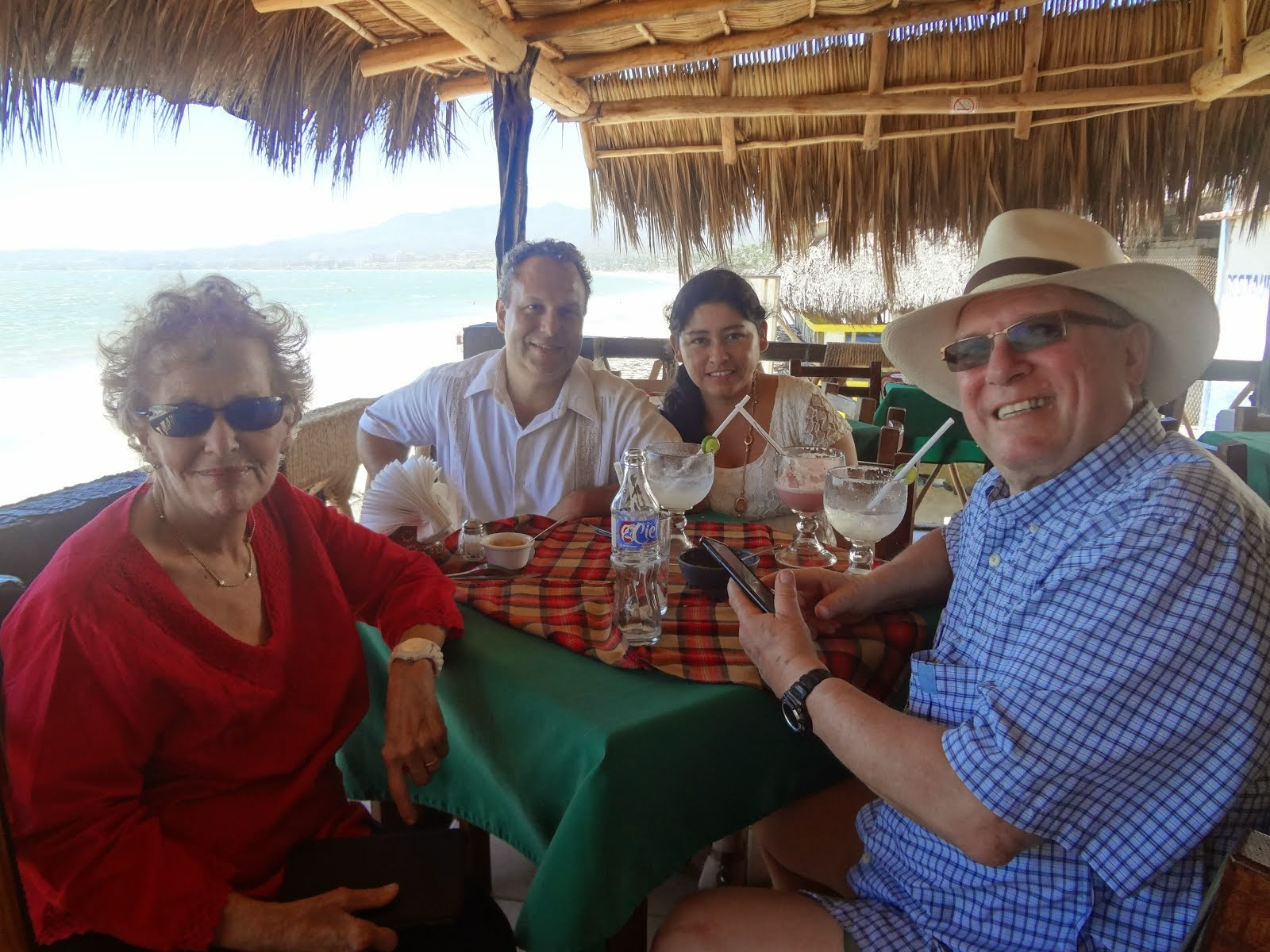A wonderful lunch with my mother, Bruce and Margarita