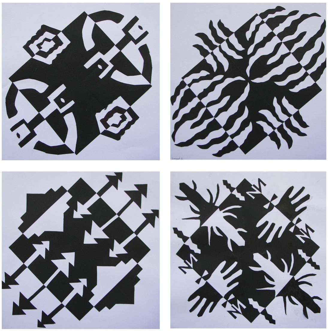how to cut paper in design