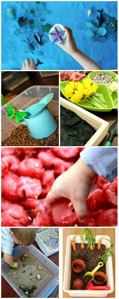50+ nature based sensory bins