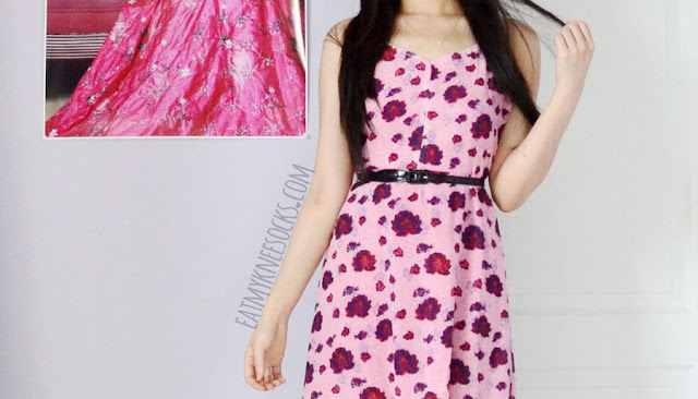 SheIn's pink floral maxi dress, a dupe of the For Love and Lemons Rosita dress, features an allover flower print, low-back design, front-slit, and sheer skirt.